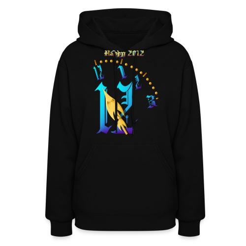 Happy 2012-Clock Striking 12:NM - Women's Hoodie