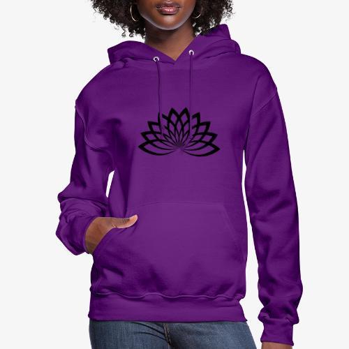 lotus noir - Molleton à capuche pour femmes