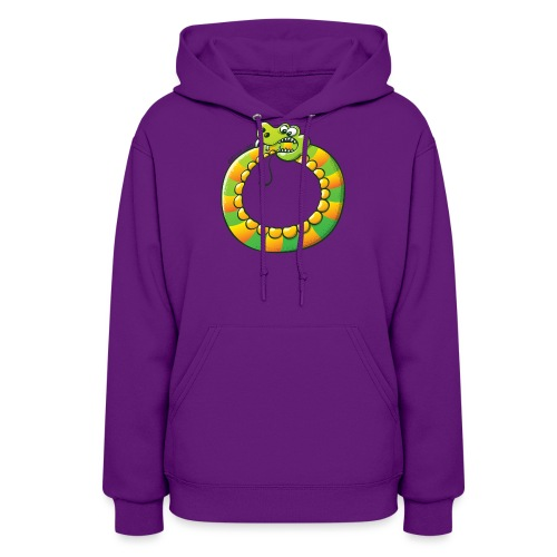 Crazy Snake Biting its own Tail - Women's Hoodie