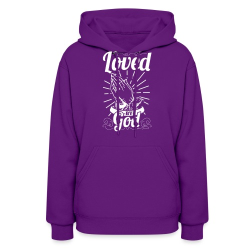 Loved By God (White Letters) - Women's Hoodie