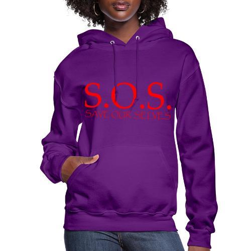 sos no emotion red - Women's Hoodie