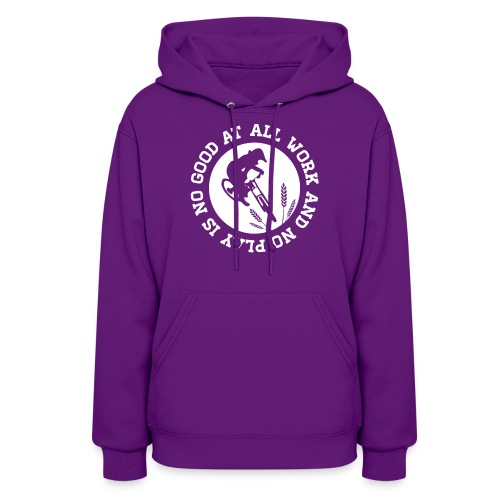 all work and no play tshirt final white png - Women's Hoodie