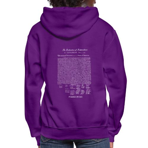 Declaration of Independence White Lettering - Women's Hoodie