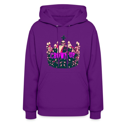 Crown Up T Shirt Female 2 - Women's Hoodie