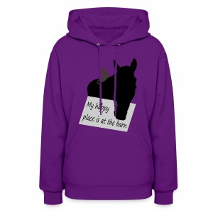 My happy place is at the barn - Women's Hoodie