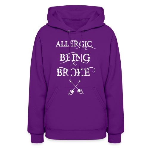 T shirt design1 png allergic - Women's Hoodie