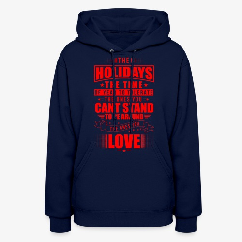 funny holiday shirt red - Women's Hoodie