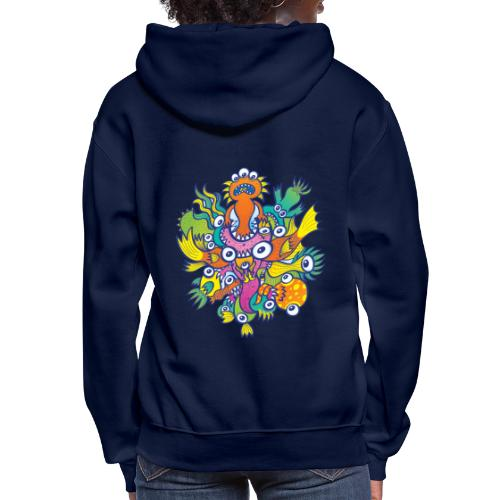 Don't let this evil monster gobble our friend - Women's Hoodie