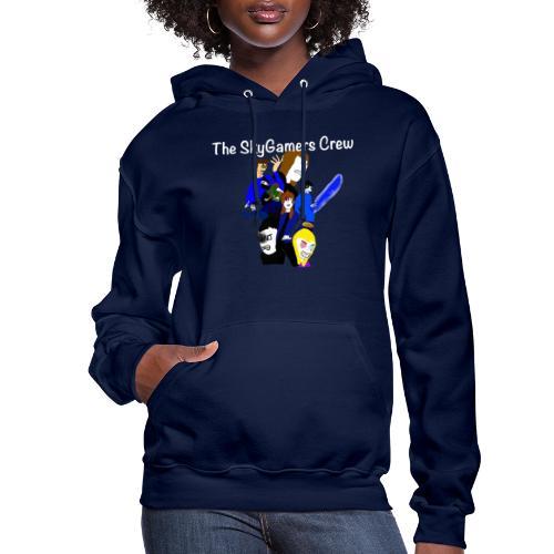 THE SKYGAMERS CREW HOODIE NEON BLUE - Women's Hoodie