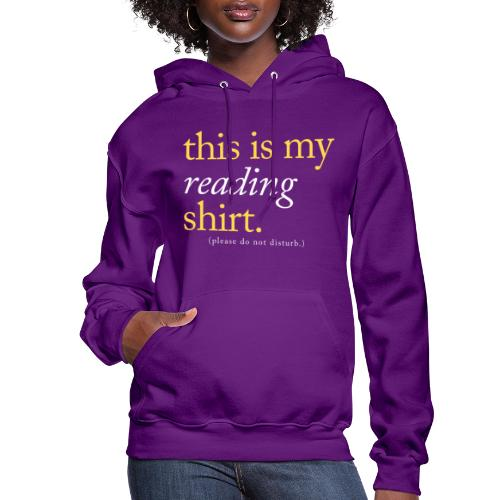 This is My Reading Shirt - Women's Hoodie