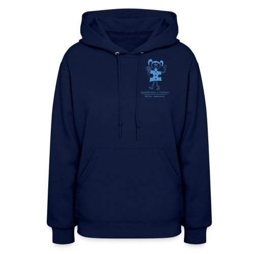 Autism Girl Small Blue - Women's Hoodie