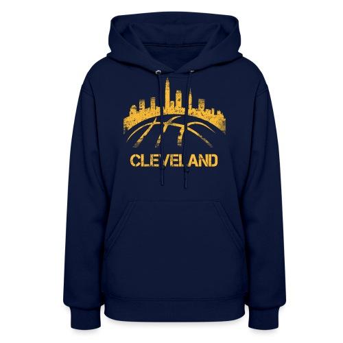 Cleveland Basketball Skyline - Women's Hoodie