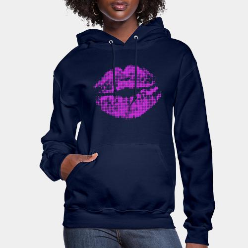 kiss mouth halftone pop - Women's Hoodie