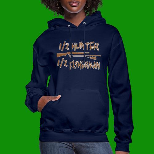 1/2 Hunter 1/2 Fisherman - Women's Hoodie