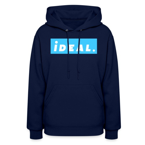 rare ideal blue logo - Women's Hoodie