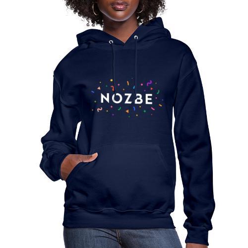 Confetti Nozbe logo in white - Women's Hoodie