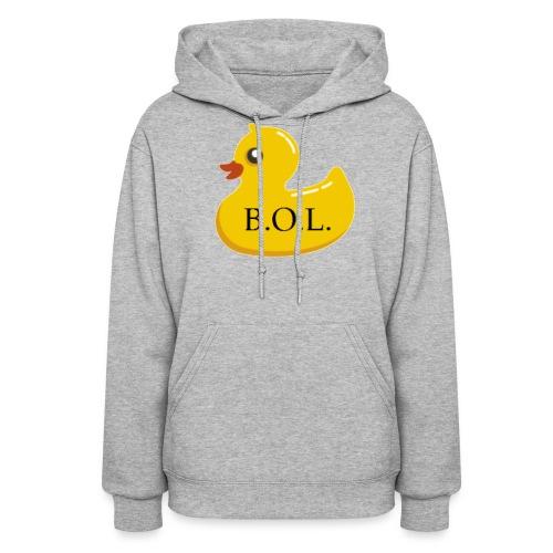 Official B.O.L. Ducky Duck Logo - Women's Hoodie