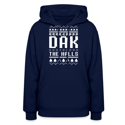 Dak The Halls Ugly Christmas Sweater - Women's Hoodie