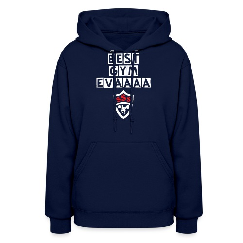 Best Gym Evaaa White and Red - Women's Hoodie