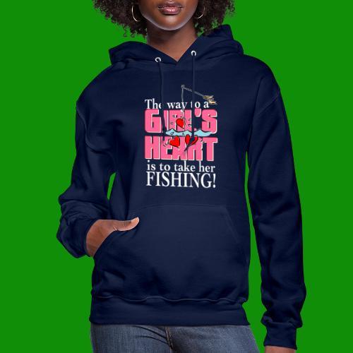 Fishing - Way to a Girl's Heart - Women's Hoodie