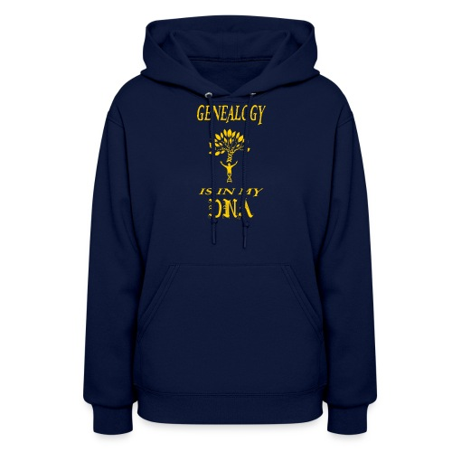 genealogy is in my dna funny birthday gift yellow - Women's Hoodie