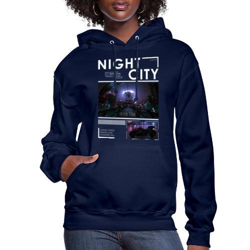 Night City Japan Town - Women's Hoodie