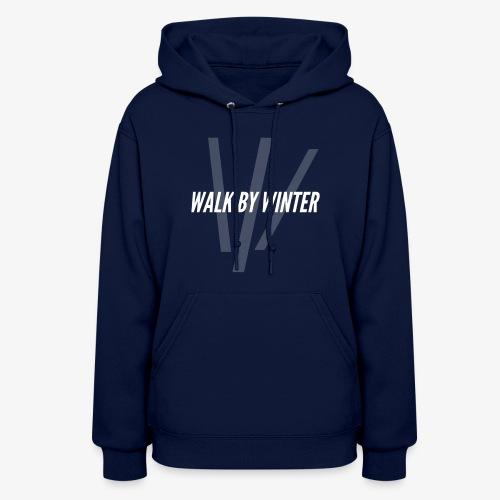 Walk by Winter W Logo (Background) - Women's Hoodie