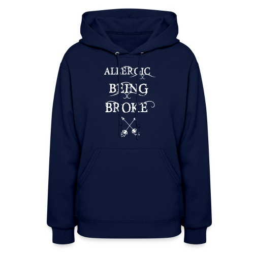 T shirt design1 png allergic - Women's Hoodie