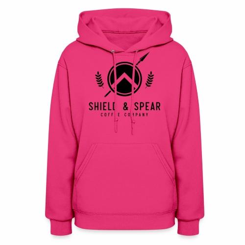 Shield and Spear Black Logo - Women's Hoodie