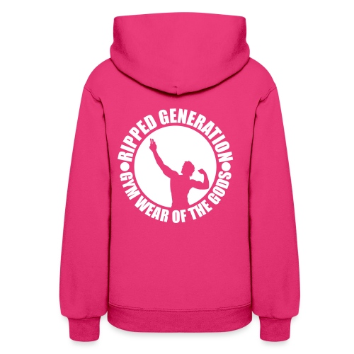 Ripped Generation Gym Wear of the Gods Badge Logo - Women's Hoodie