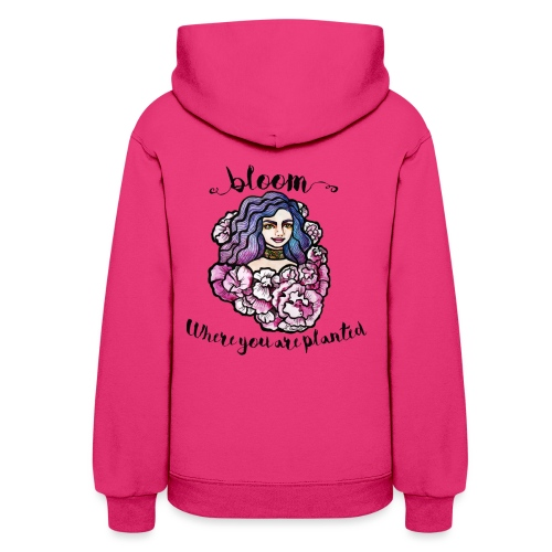 Bloom where you are planted Goddess - Women's Hoodie