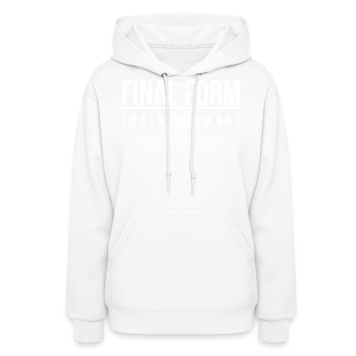 final form logo train smart white png - Women's Hoodie