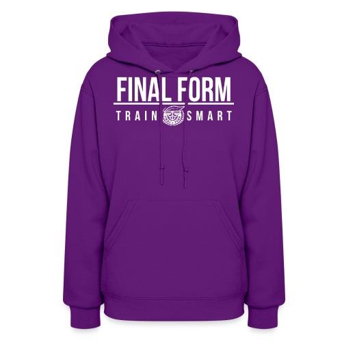 final form logo train smart white png - Women's Hoodie