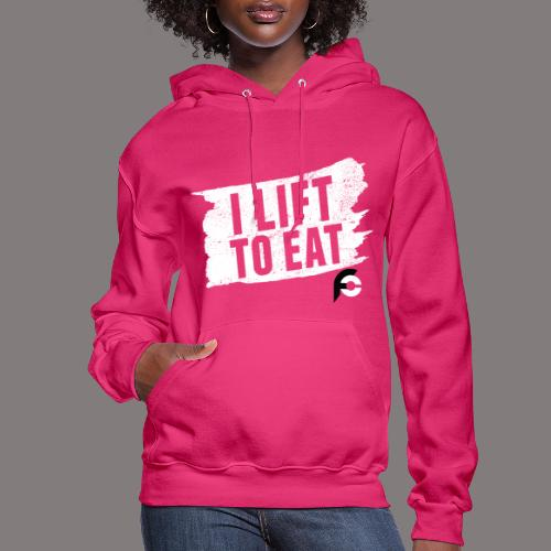 I Lift To Eat White 2 - Women's Hoodie