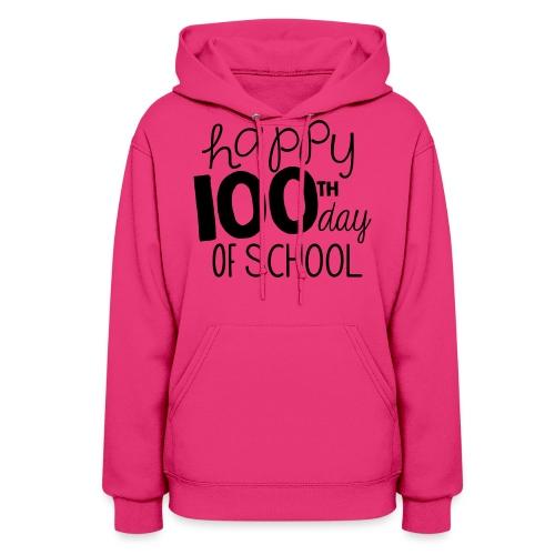 Happy 100th Day of School Chalk Teacher T-Shirt - Women's Hoodie