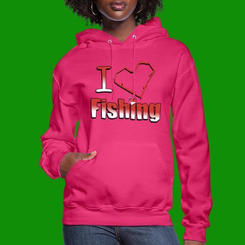 I heart fishing - Women's Hoodie