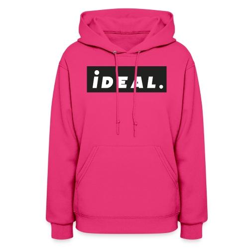 black ideal classic logo - Women's Hoodie