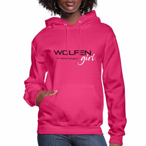 Wolfen Girl on Pink - Women's Hoodie