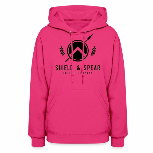 Shield and Spear Black Logo - Women's Hoodie