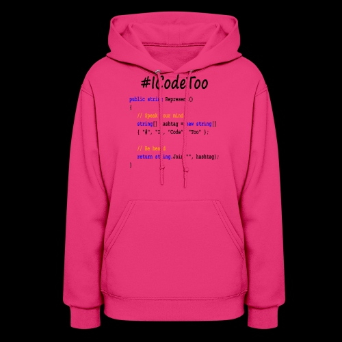 #ICodeToo coding diversity statement shirt - Women's Hoodie