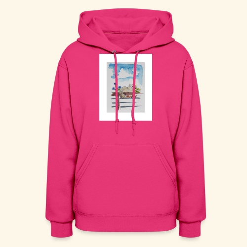 Anna in the Flower Bed - Women's Hoodie