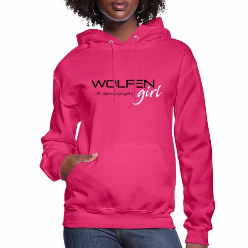 Wolfen Girl on Pink - Women's Hoodie