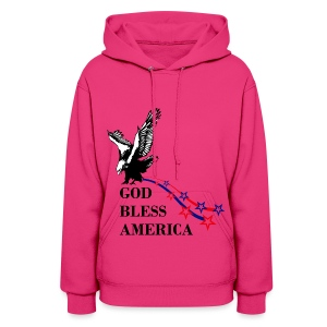 CUSTOM DESIGN GOD BLESS AMERICA - Women's Hoodie