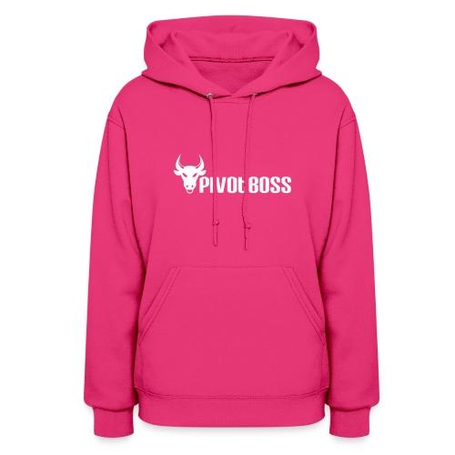 PivotBoss White Logo - Women's Hoodie