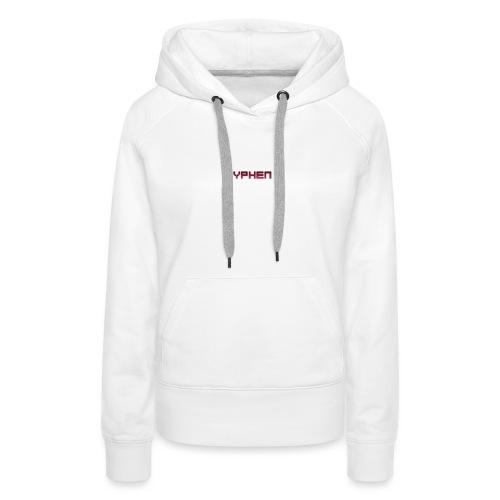 syphen text - Women's Premium Hoodie