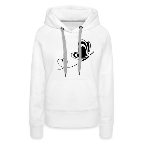 butterfly love heart wings insect - Women's Premium Hoodie