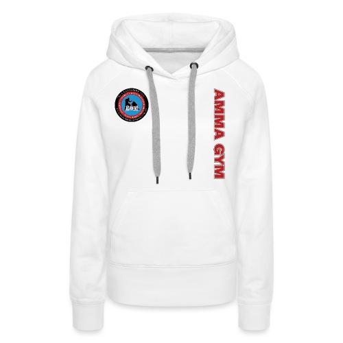 amma gym 10 png - Women's Premium Hoodie
