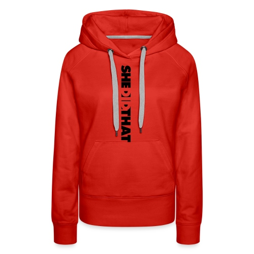 She Did That Large Design - Women's Premium Hoodie