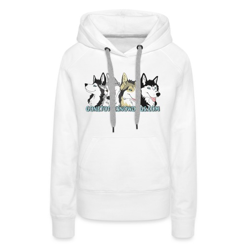 Siberian Husky Snow Dogs - Women's Premium Hoodie