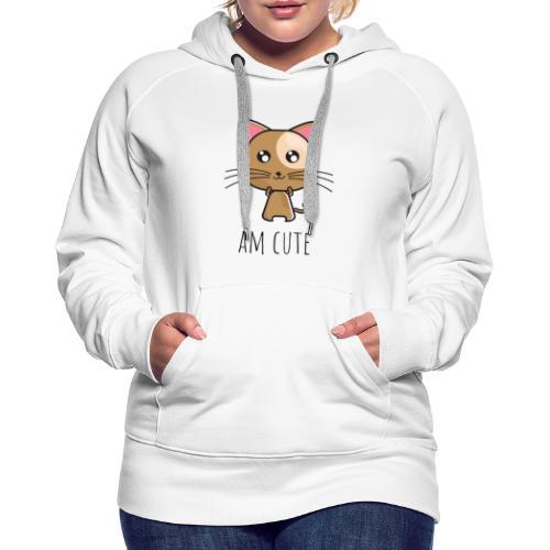 Am Cute Furry Animal - Women's Premium Hoodie